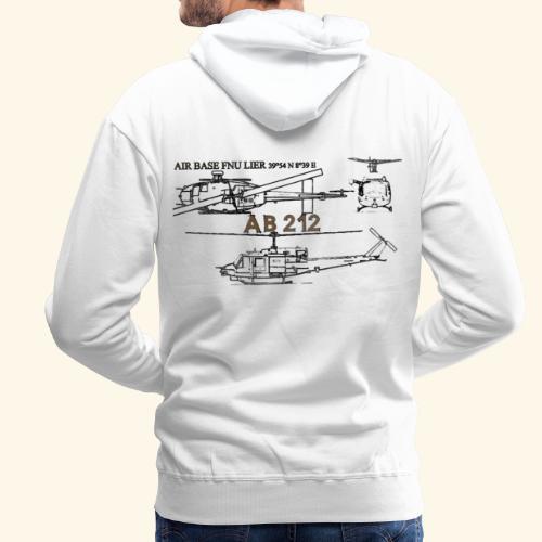 ab212 AIR BASE FENOSU - Felpa con cappuccio premium da uomo