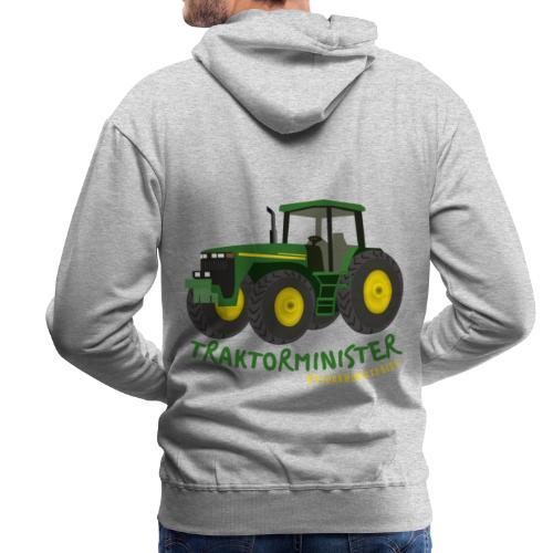 Grøn traktorminister 2021 - Herre Premium hættetrøje