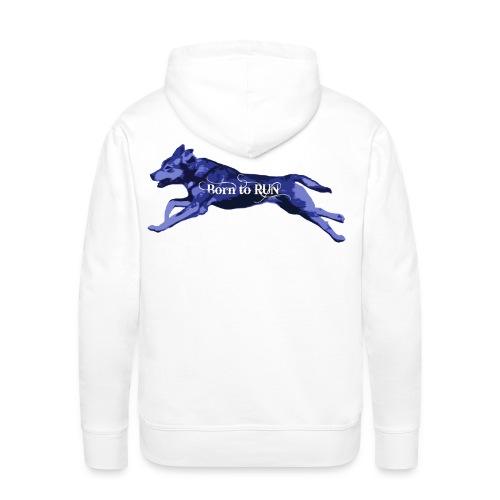 Born_to_Run---dark-blue.png - Männer Premium Hoodie
