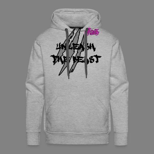 Face_avant_noir_rose - Sweat-shirt à capuche Premium pour hommes