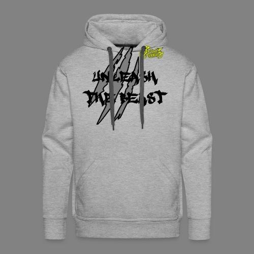 Face_avant_noir_jaune - Sweat-shirt à capuche Premium pour hommes