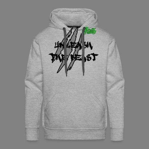 Face_avant_noir_vert - Sweat-shirt à capuche Premium pour hommes