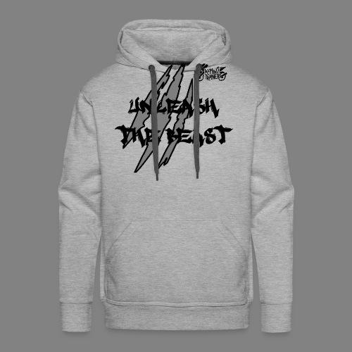 Face_avant_noir - Sweat-shirt à capuche Premium pour hommes