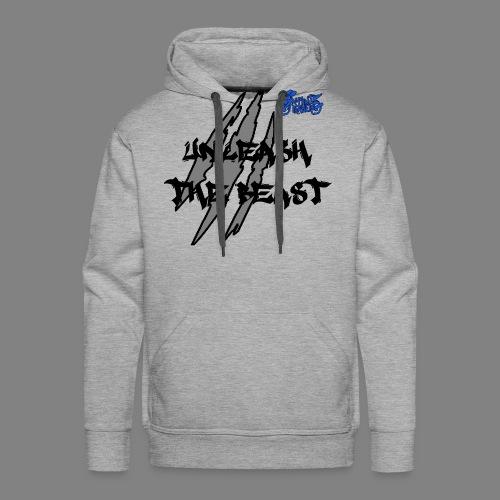 Face_avant_noir_bleu - Sweat-shirt à capuche Premium pour hommes