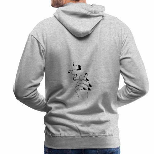 Smoke - Sweat-shirt à capuche Premium pour hommes
