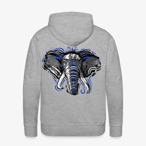 Natural Instinct Éléphant - Sweat-shirt à capuche Premium pour hommes