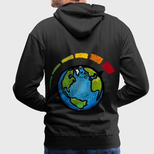Urgence Climatique - Sweat-shirt à capuche Premium pour hommes