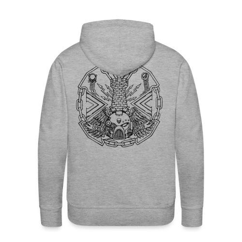 Logotshirtblack1 png - Men's Premium Hoodie