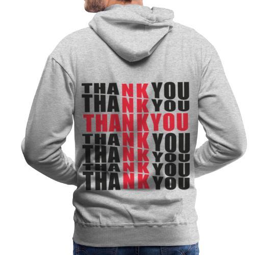 THANK YOU DESIGN - Sweat-shirt à capuche Premium pour hommes