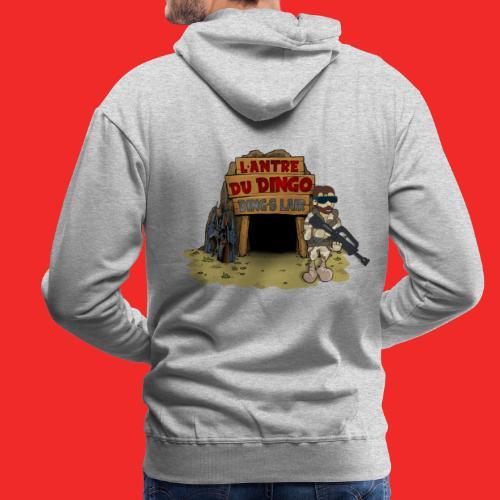 logo antre sans YT - Sweat-shirt à capuche Premium pour hommes