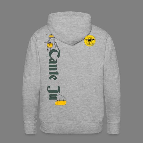 TDH19-PROFIL-JU52 GRIS FONCE - Sweat-shirt à capuche Premium pour hommes
