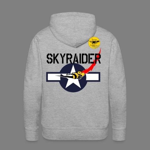 TDH19-PROFIL-COCARDE SKYRAIDER - Sweat-shirt à capuche Premium pour hommes