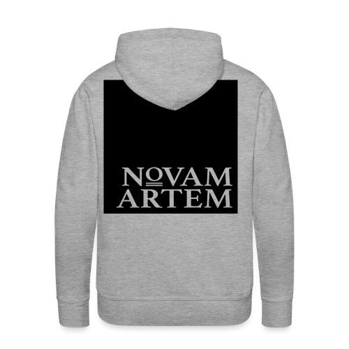 NOVAM ARTEM BLACK SQUARE - Herre Premium hættetrøje