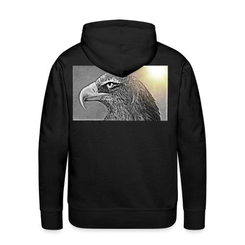 Aigle majestueux - Sweat-shirt à capuche Premium pour hommes