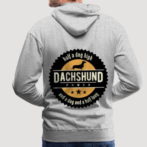 Dachshund Power - Mannen Premium hoodie