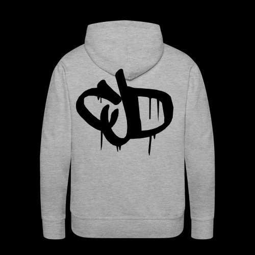Dripping blood CJD logo - Men's Premium Hoodie