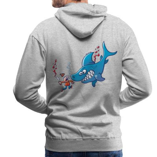 Sharks are Furious, Stop Finning! - Men's Premium Hoodie