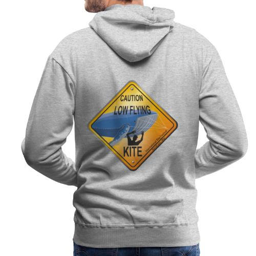 Roadsign Attention cerf-volant à basse altitude - Sweat-shirt à capuche Premium pour hommes