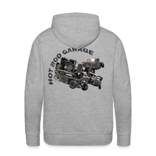 Hot Rod Garage 1 - Sweat-shirt à capuche Premium pour hommes