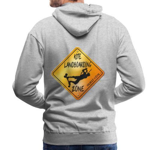 KITE LANDBOARDING ZONE OUEST CÔTE - Sweat-shirt à capuche Premium pour hommes