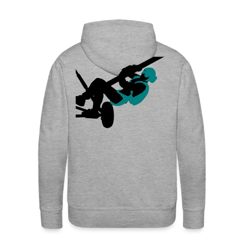 Parachutisme video - Sweat-shirt à capuche Premium pour hommes