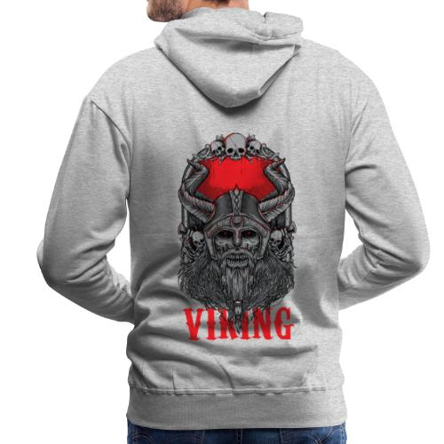 Viking T Shirt Design red - Miesten premium-huppari