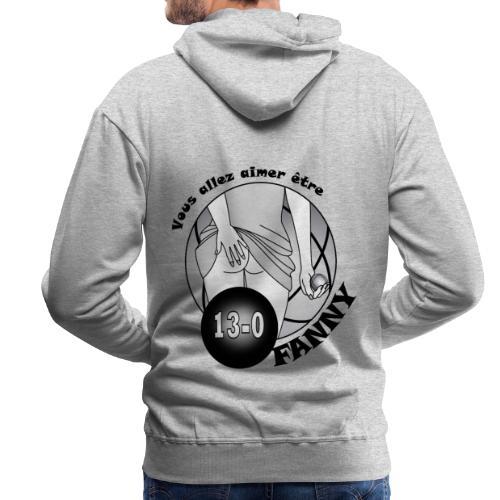 pétanque fanny embrasser les fesses jeu de boules - Sweat-shirt à capuche Premium pour hommes