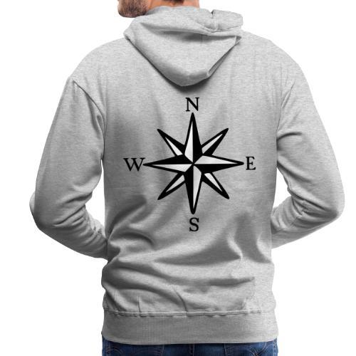 Windrose mit Himmelsrichtungen Segeln Segler - Männer Premium Hoodie