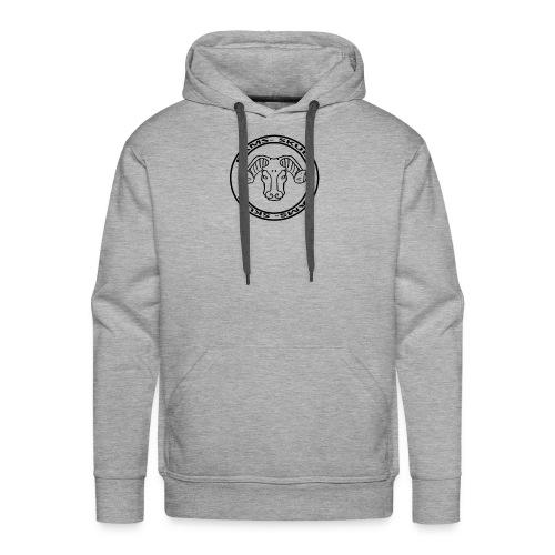 RamSkull Apparell Grey pullover hoodie - Men's Premium Hoodie
