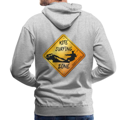 KITESURFING ZONE OUEST CÔTE - Sweat-shirt à capuche Premium pour hommes