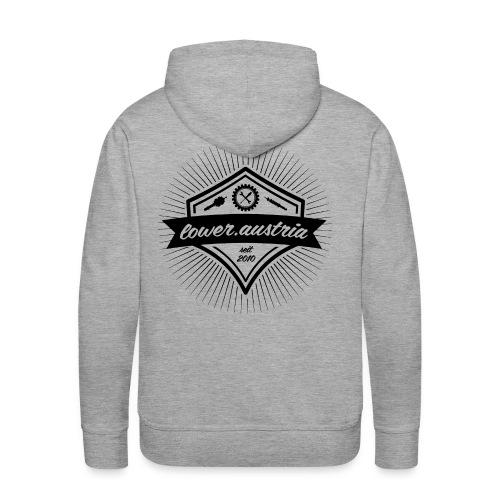 LowA Logo black 48pd png - Männer Premium Hoodie