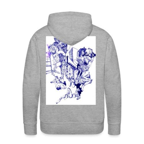 'Naked Bambi' Tintengrafik - Männer Premium Hoodie