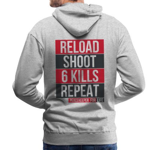 Apex Legends - Peacekeeper reload shoot - Fanart - Sweat-shirt à capuche Premium pour hommes