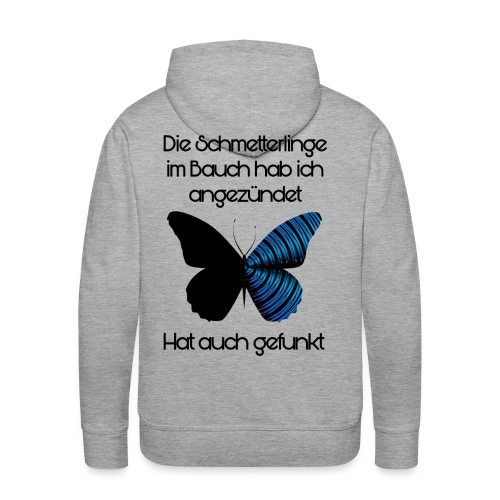 Schmetterlinge Im Bauch - Männer Premium Hoodie