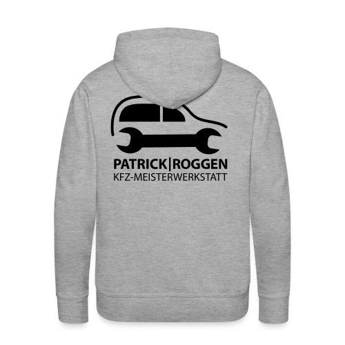 patrick logogr final schwarz kopie - Männer Premium Hoodie