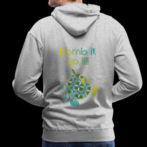 Bomb It Up : Yellow Power !!! - Sweat-shirt à capuche Premium pour hommes