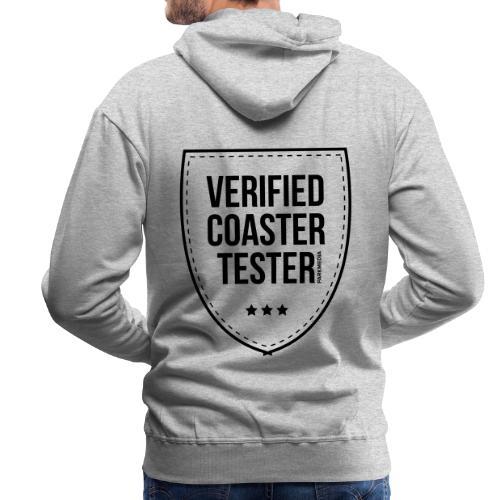 Badge de testeur de montagnes russes vérifié - Sweat-shirt à capuche Premium pour hommes