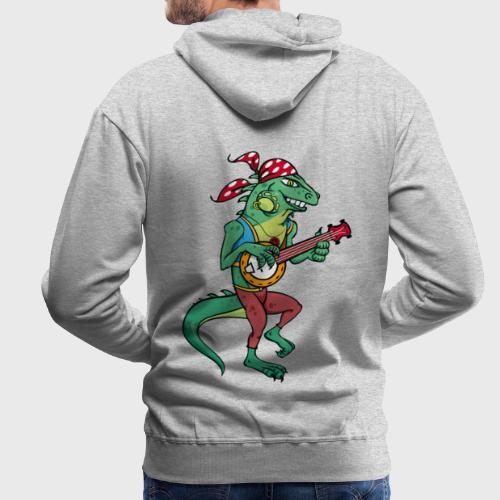 Tzigane iguane avec Banjo - Sweat-shirt à capuche Premium pour hommes