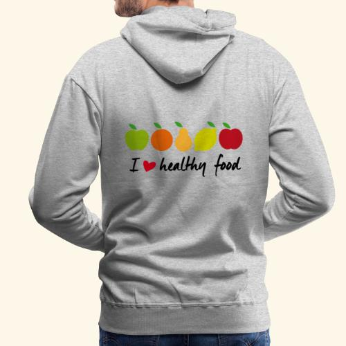 Healthy food - Sudadera con capucha premium para hombre