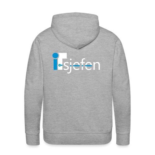 ITsjefen logo - Premium hettegenser for menn