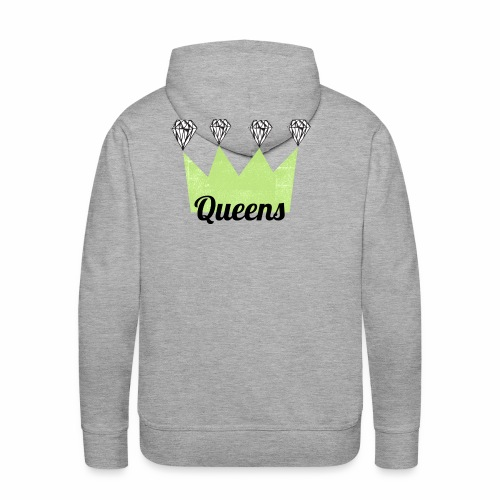 logo_queens_4_vihr_musta - Miesten premium-huppari