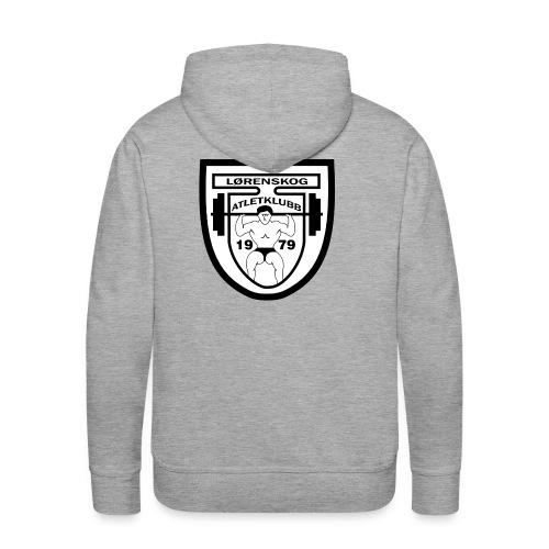 lrenskog atletklubb logo3 - Premium hettegenser for menn