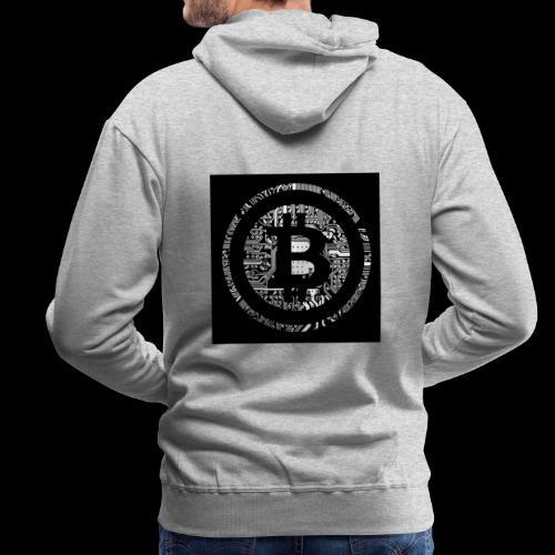 bitcoin logo - Männer Premium Hoodie