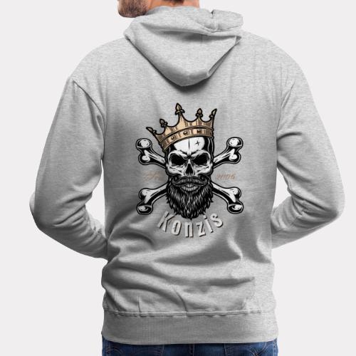 Skull Bones Logo - Männer Premium Hoodie