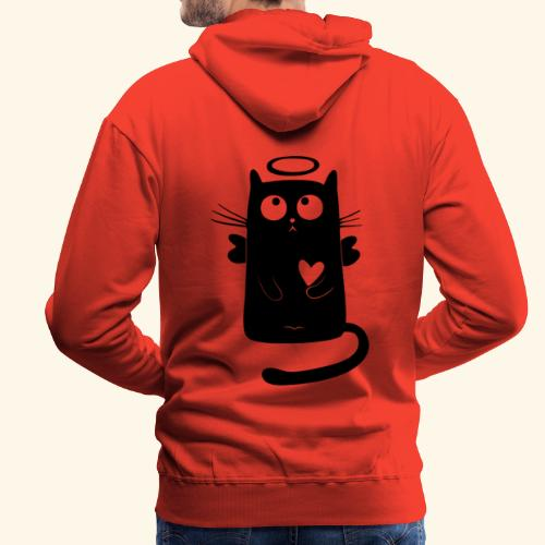 Gato angelical - Sudadera con capucha premium para hombre