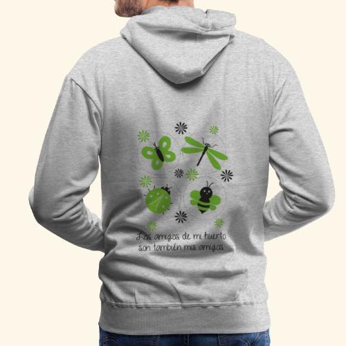 Amigos del huerto y el jardín - Sudadera con capucha premium para hombre