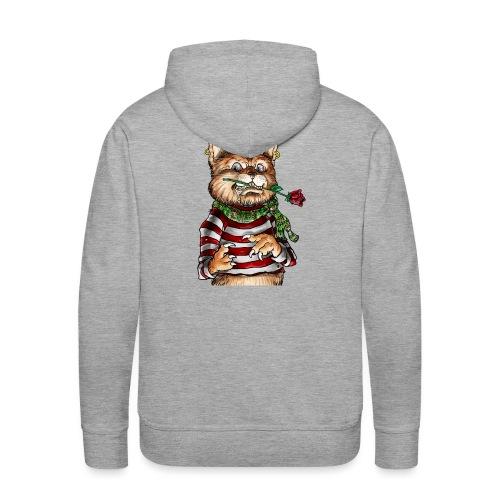 T-shirt - Crazy Cat - Sweat-shirt à capuche Premium pour hommes