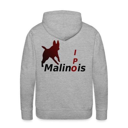 IPO Malinois Männer T-Shirt V Ausschnitt - Männer Premium Hoodie