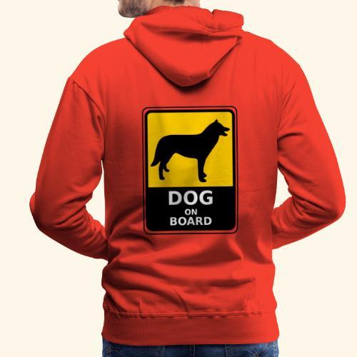 cartel perro - Sudadera con capucha premium para hombre