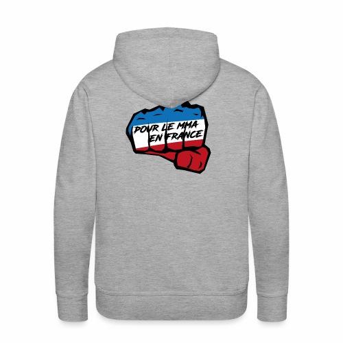 Fightness fist mma - Sweat-shirt à capuche Premium pour hommes